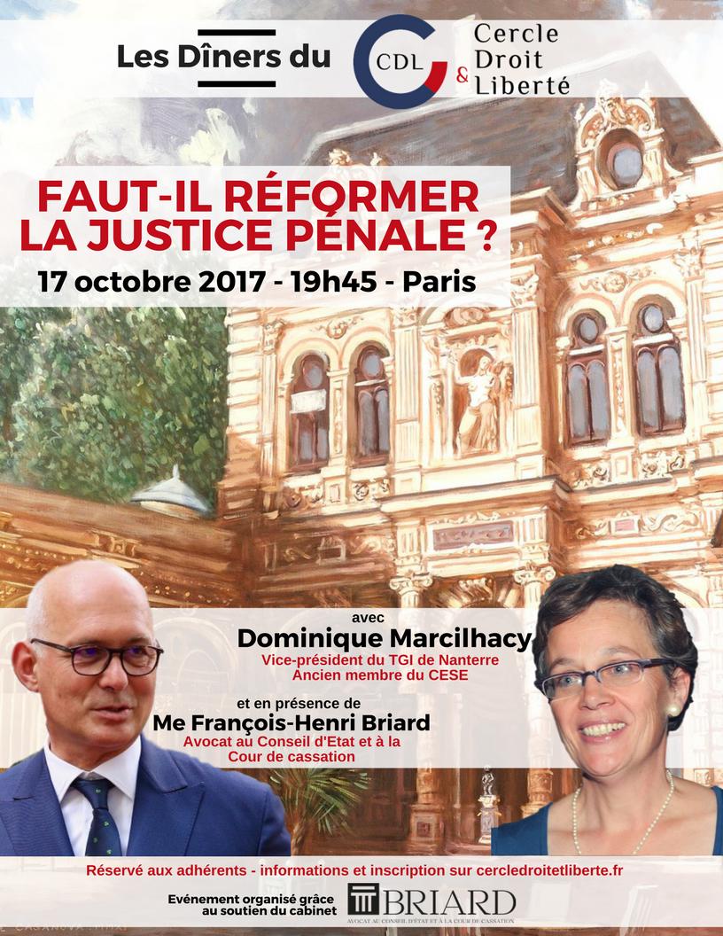 Dîner Avec La Magistrate Dominique Marcilhacy Cercle Droit Liberté