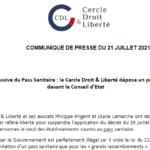 Extension massive du Pass Sanitaire : le Cercle Droit & Liberté dépose un premier recours devant le Conseil d'Etat