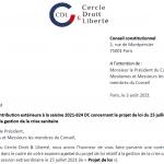 Projet de loi relatif à gestion de la crise sanitaire: Le CDL transmet sa contribution extérieure au le Conseil constitutionnel